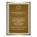 White Gold Star of David Bar Mitzvah