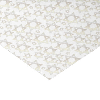 White Gold Star Of David - Tissue Paper