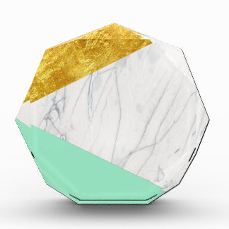 White Gold Teal Marble