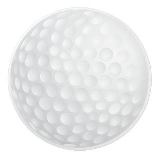 White Golf Ball Design Ceramic Knob