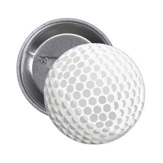 White golf ball for golfer - handicap or not! 2 inch round button
