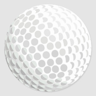 White golf ball for golfer - handicap or not! classic round sticker