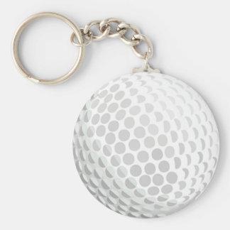 White golf ball for golfer - handicap or not! basic round button keychain