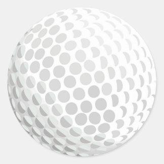 White golf ball for golfer - handicap or not! round sticker