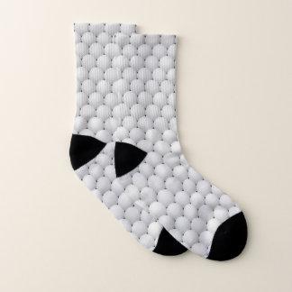 White Golf Balls Design Socks 1