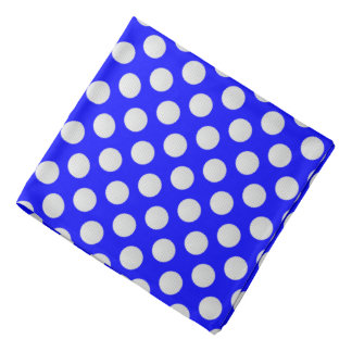 White Golf Balls on Blue Bandana