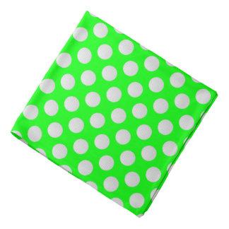 White Golf Balls on Lime Green Bandana