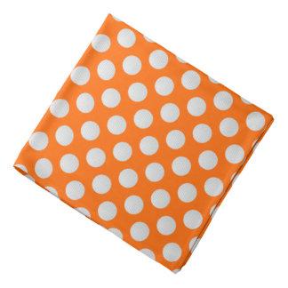 White Golf Balls on Orange Bandana