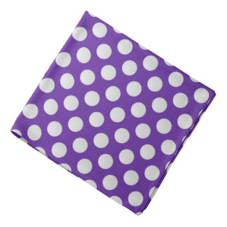 White Golf Balls on Purple Bandana