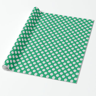 White Golf Balls on Shamrock Green Wrapping Paper