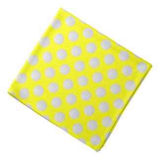 White Golf Balls on Yellow Bandana