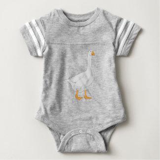 White Goose Illustration Baby Bodysuit