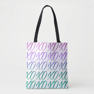 White Gradient Hugs & Kisses Tote