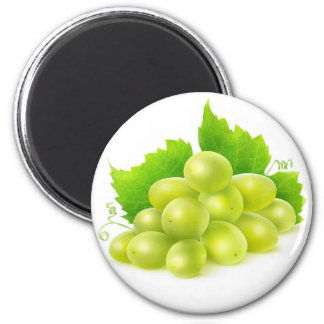White grapes 2 inch round magnet