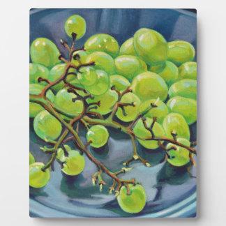White Grapes Plaque