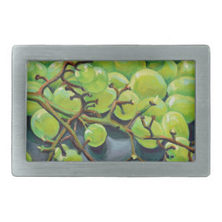 White Grapes Rectangular Belt Buckles