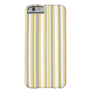 White, Gray and Beige Vertical Stripe Pattern Barely There iPhone 6 Case