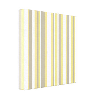 White, Gray and Beige Vertical Stripe Pattern Canvas Print