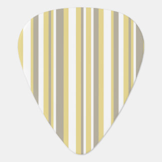 White, Gray and Beige Vertical Stripe Pattern Guitar Pick