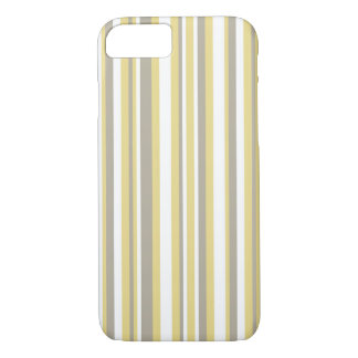 White, Gray and Beige Vertical Stripe Pattern iPhone 7 Case