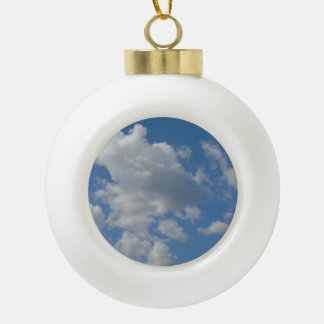 White/Gray Clouds and Blue Sky Ornament