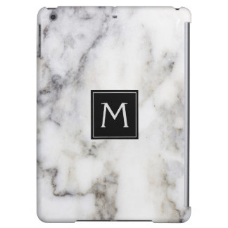 White & Gray Marble Stone Cover For iPad Air
