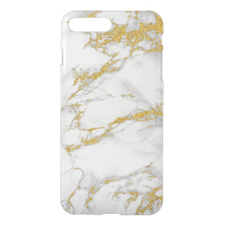 White & Gray Marble With Gold Accent iPhone 7 Plus Case