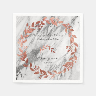 White Gray Silver Rose Pink Gold Marble Disposable Napkin