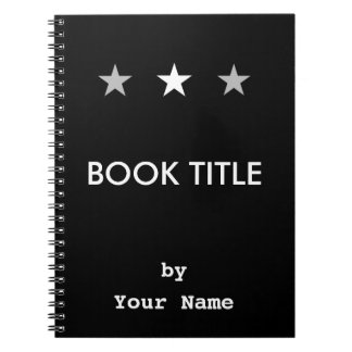 White & Gray Stars Your Book Project - Notebook