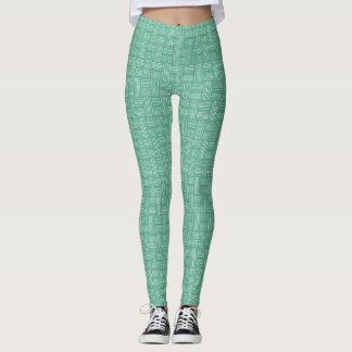 White Green Animal Pattern#54e Legging Pants