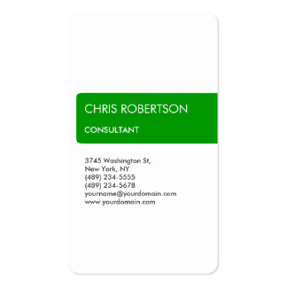 White Green Attractive Charming Business Card