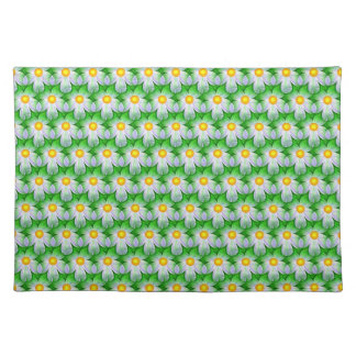 White, Green & Yellow Floral Placemat