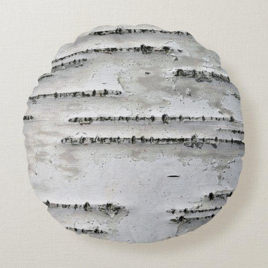 White, Grey and Black Birch Bark Throw Pillow