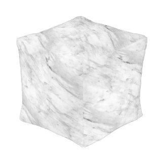 White & Grey  Marble Stone Pouf