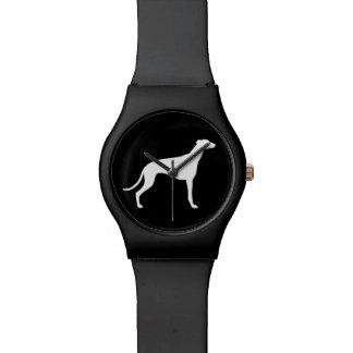 White Greyhound Silhouette Watch