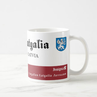 White Griffin with a Sword from Latgalia Latvia Coffee Mug