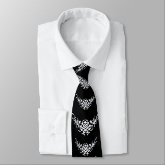 WHITE GRIFFINS AND FLOWERS IN BLACK TIE