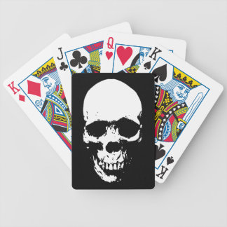 White Grim Reaper Skull Bicycle Playing Cards