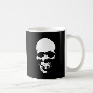 White Grim Reaper Skull Coffee Mug