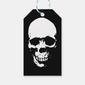 White Grim Reaper Skull Gift Tags