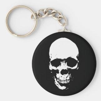 White Grim Reaper Skull Keychain