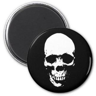 White Grim Reaper Skull Magnet