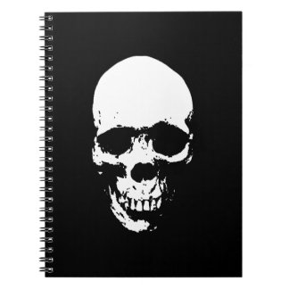 White Grim Reaper Skull Notebooks