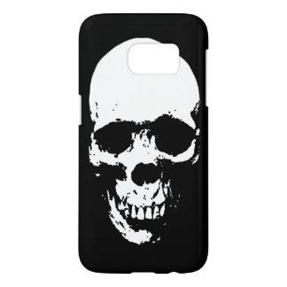 White Grim Reaper Skull Samsung Galaxy S7 Case