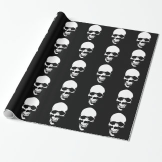 White Grim Reaper Skull Wrapping Paper