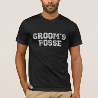 White Groom's Posse Wedding Party T-Shirt