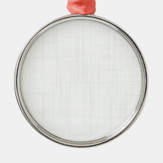 White Grunge Effect Background Metal Ornament