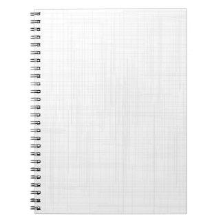 White Grunge Effect Background Notebook