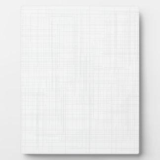 White Grunge Effect Background Plaque