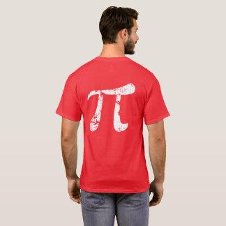 White Grunge Pi Symbol T-Shirt